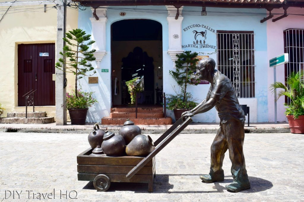 Camaguey sculpture in Plaza Carmen
