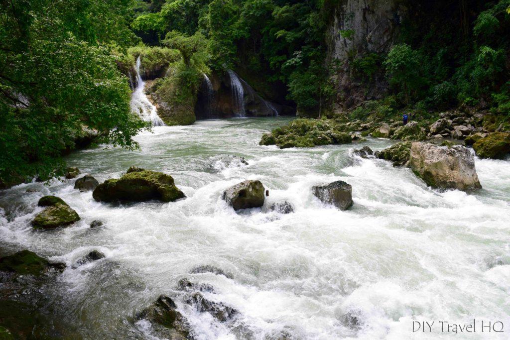 Semuc Champey Rio Cahabon Exiting Short Cave