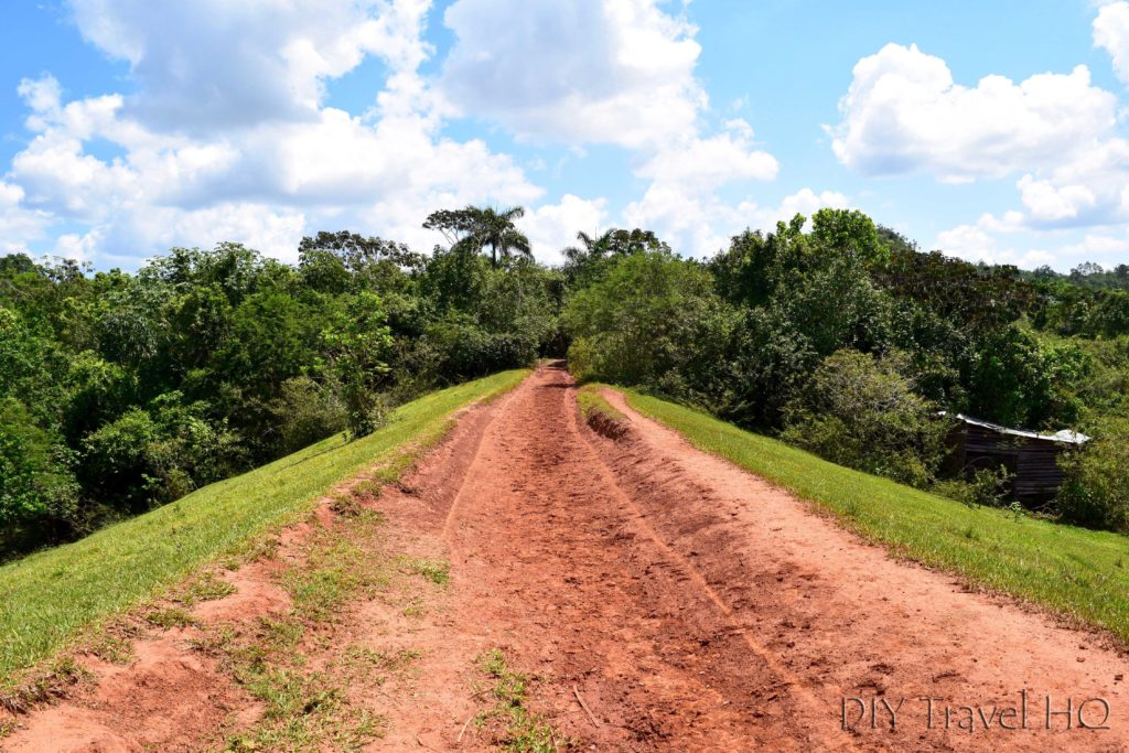 Red dirt road in Vinales hiking