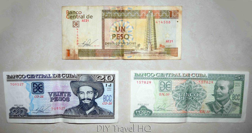 Cuban Money Dual Currency