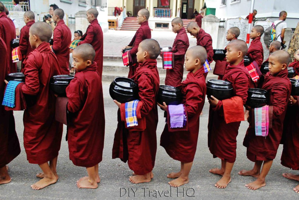 Young monks in Amarapura