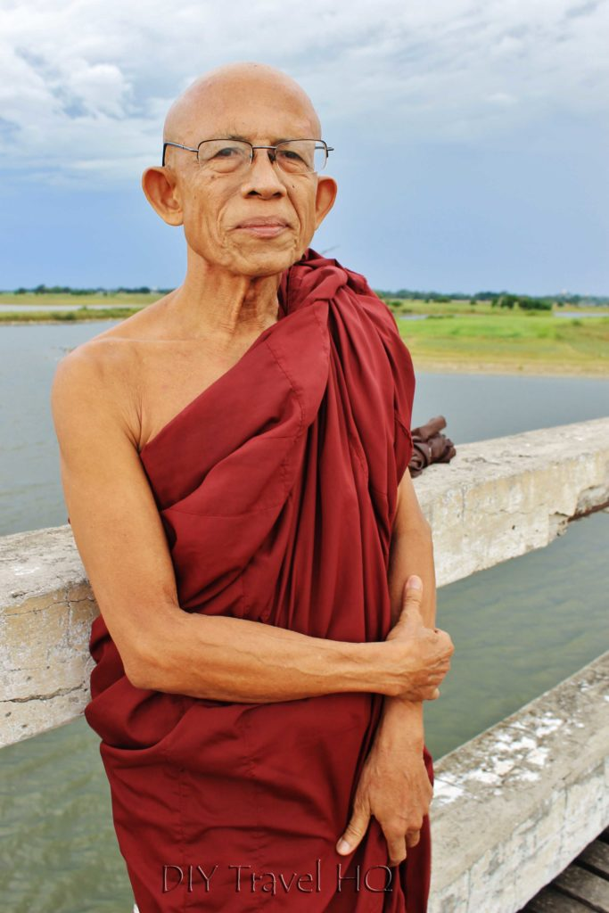 Monk on U-Bein Bridge