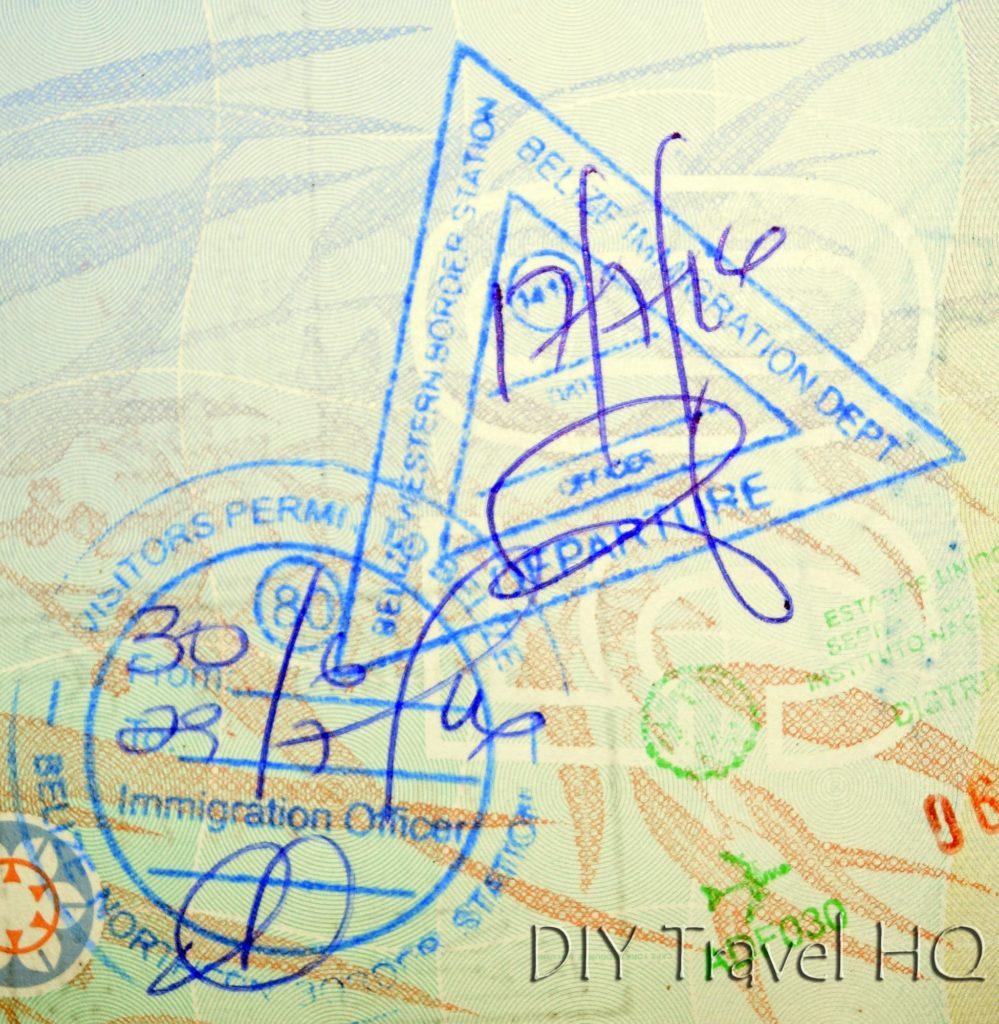 Belize Immigration Stamps