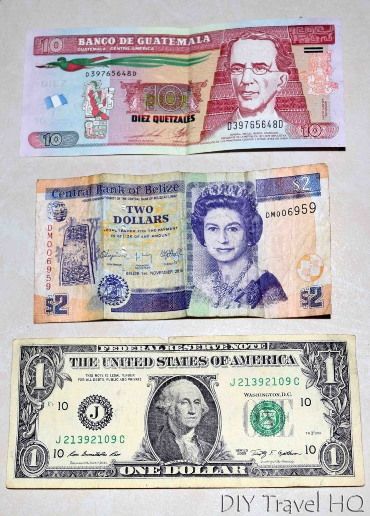 Belize and Guatemala Border Crossing Currencies