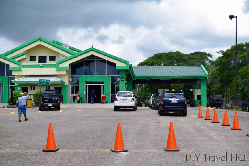 Benque Belize Immigration Departure Hall