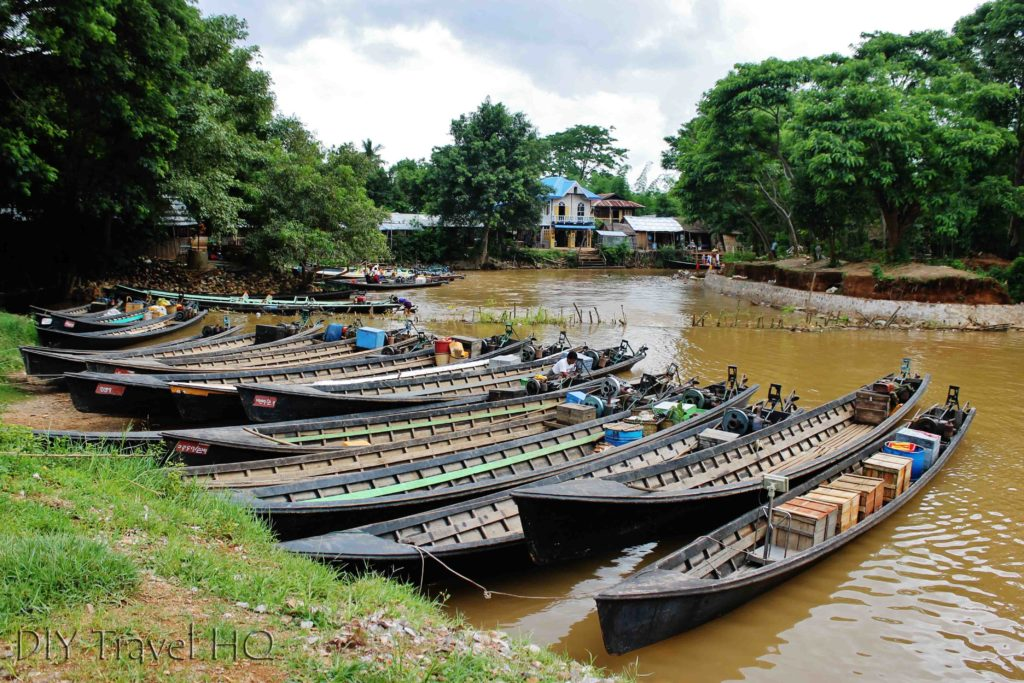 Longboats in Ywama Village