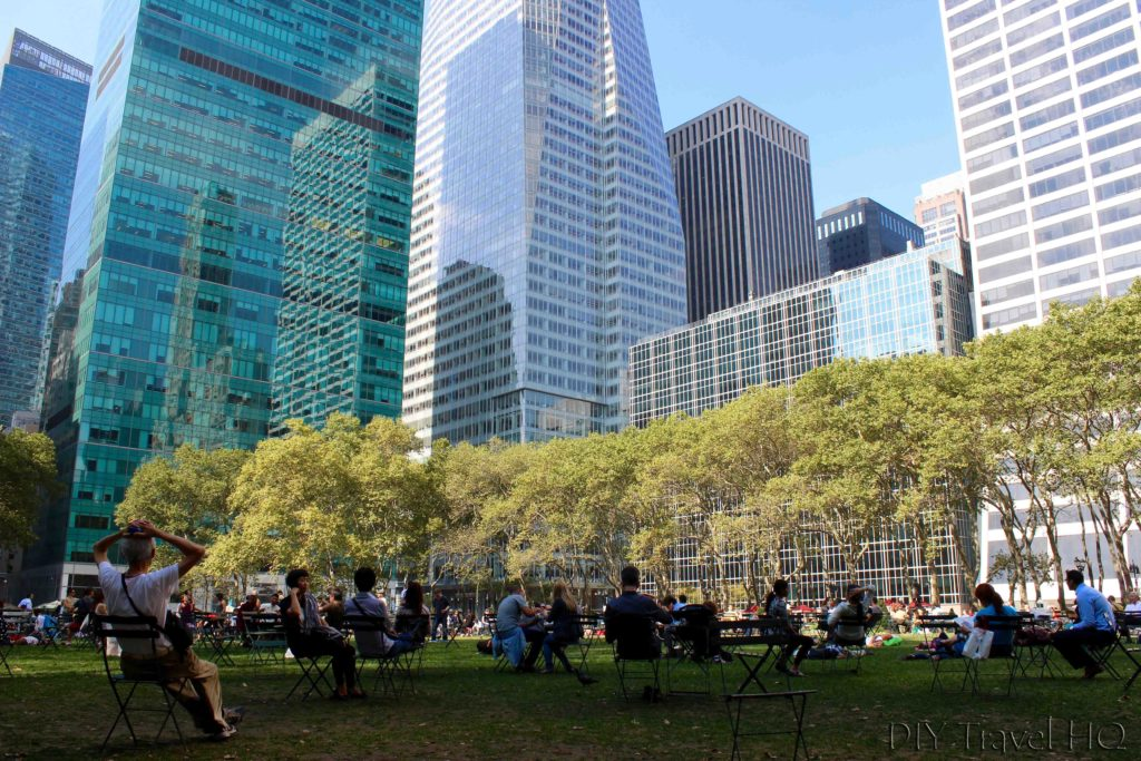 Relax in Bryant Park