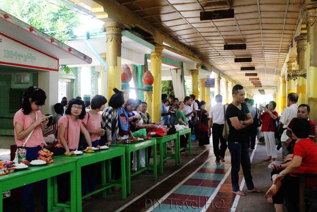 Tourists at Bago monastery