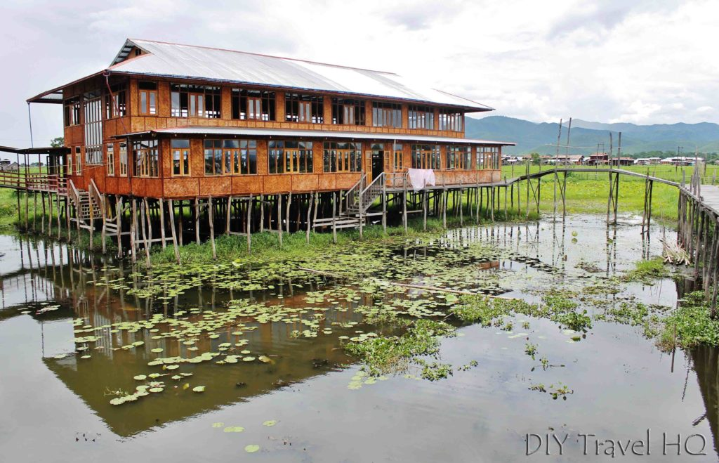Stilt building on Inle Lake