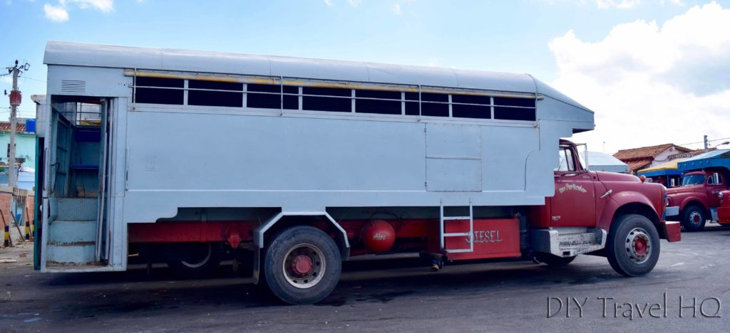 Local truck travel in Cuba