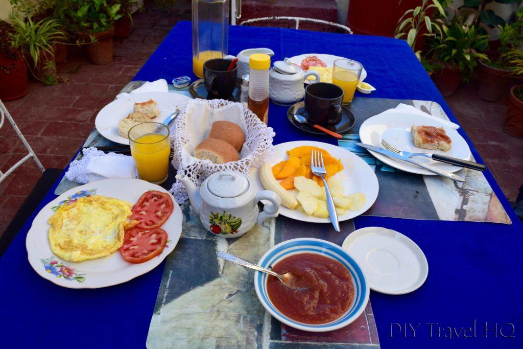 Casa Particulares Breakfast in Trinidad
