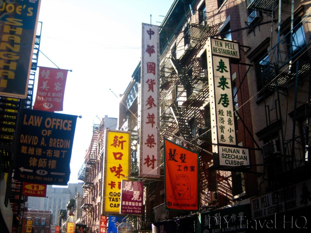 Chinatown Signs in New York