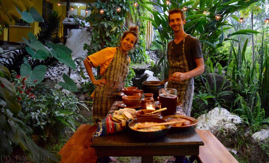 Friends at Ixiim Cooking School