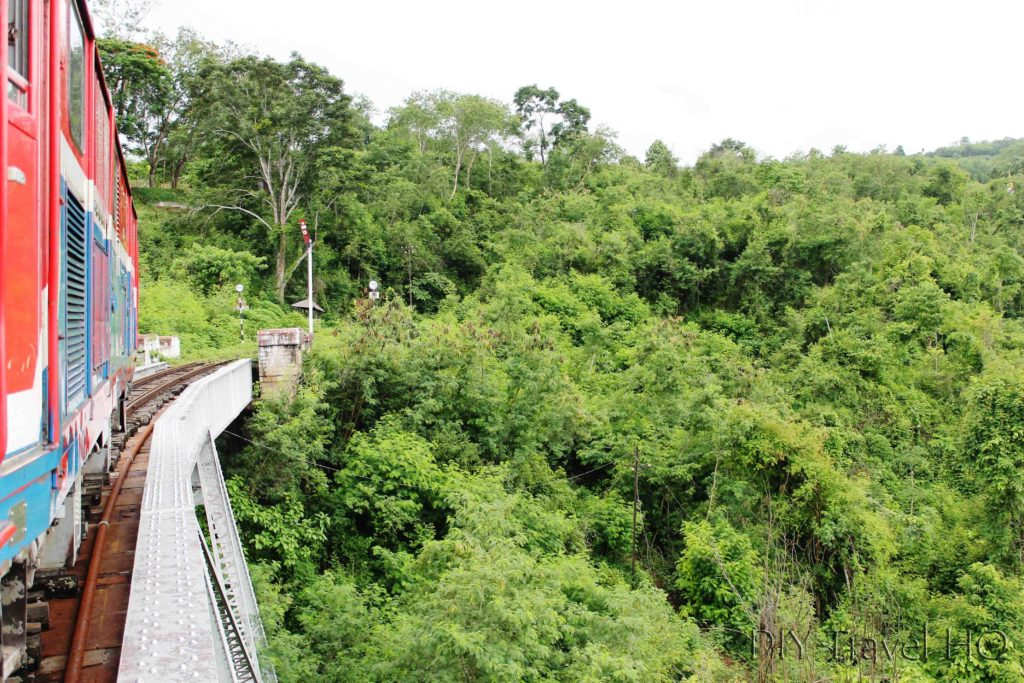 Hsipaw train crossing Goktein Viaduct