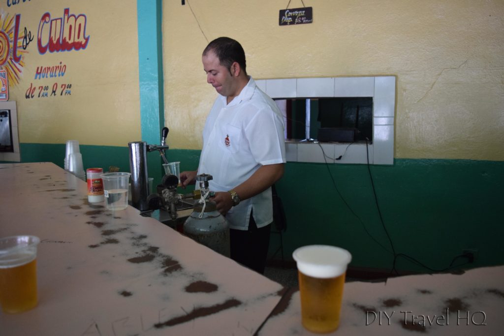 Local Beer Dispensary in Cuba