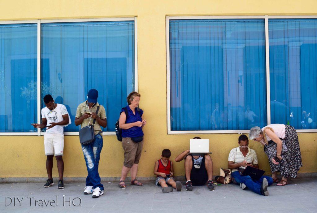 Wifi in Old Havana