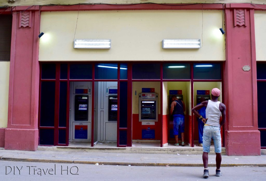 Cuba's Dual Currency Street ATMs