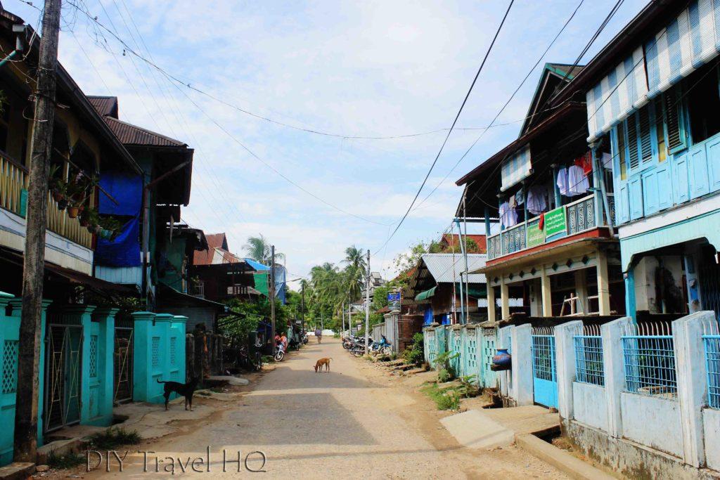 Lovely residential street in Dawei