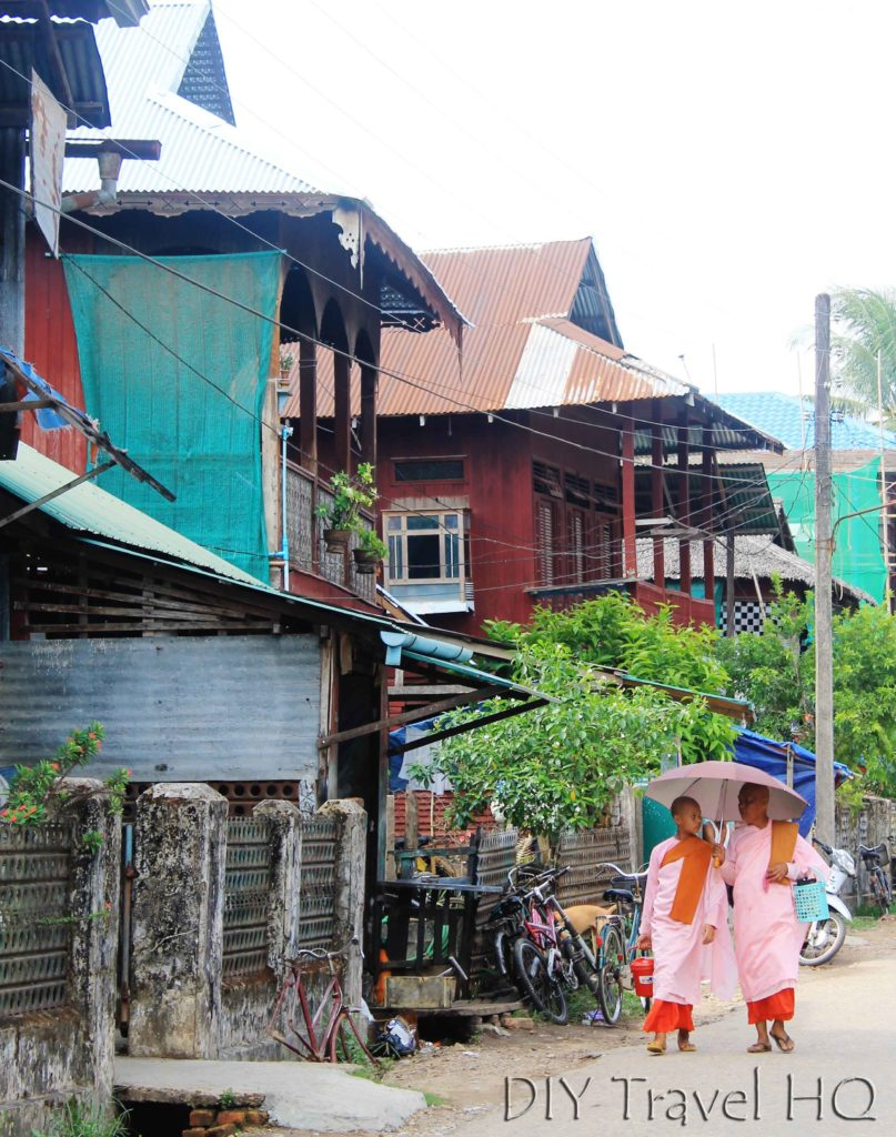 Nuns on streets of Dawei