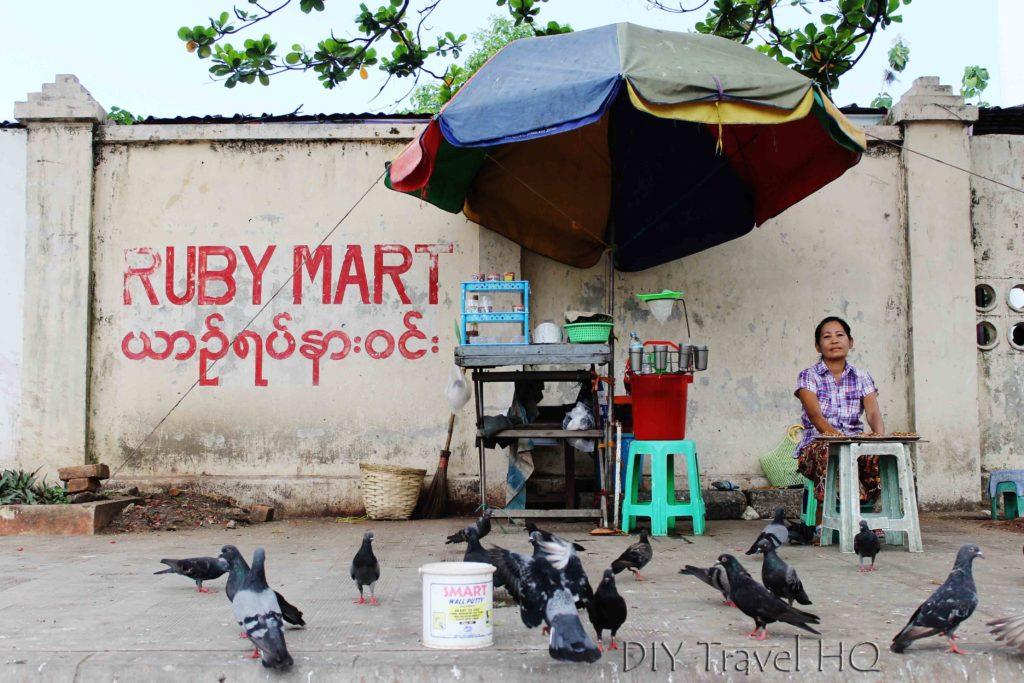 Street stall owner in Yangon