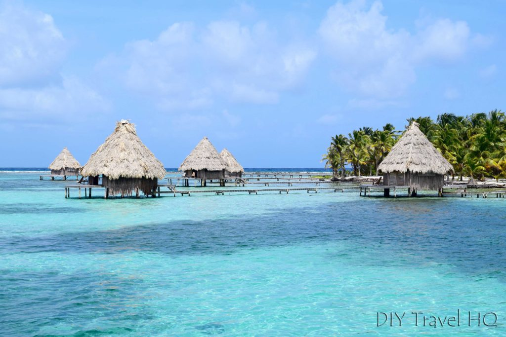 Over water bungalows on Glovers Atoll
