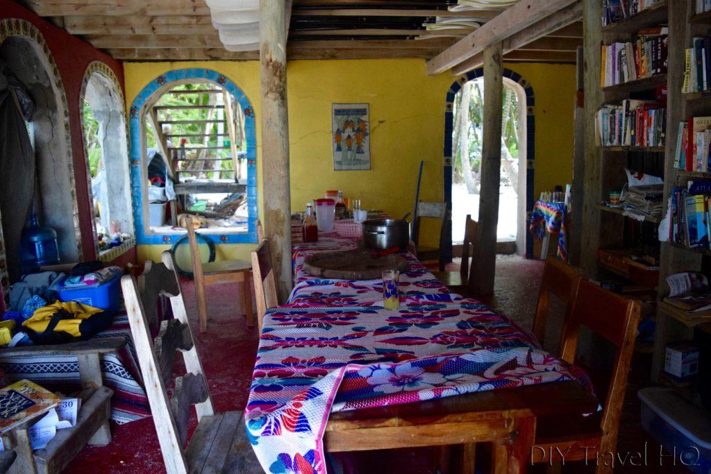 Restaurant on Glovers Atoll