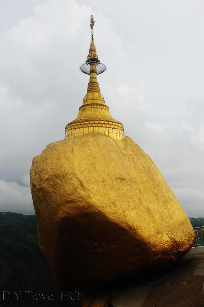 The Golden Rock in Myanmar