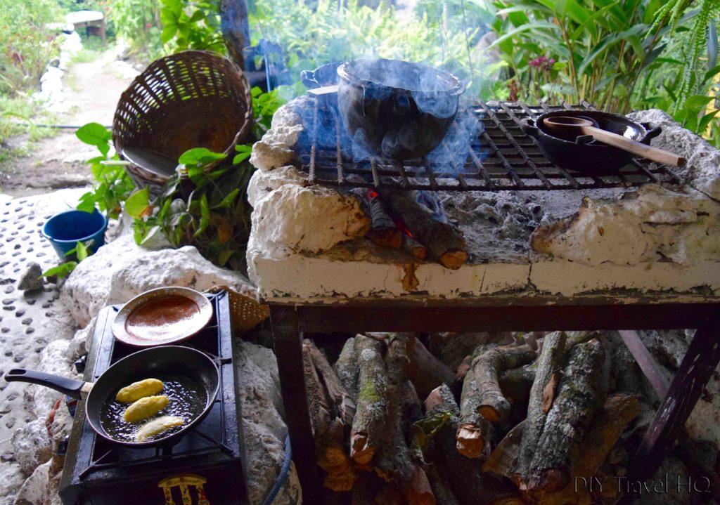 Handmade fire stove at Ixiim