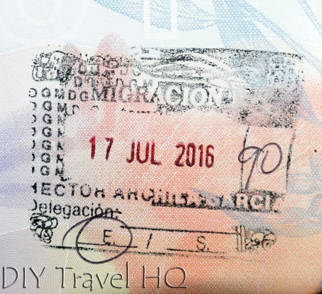 Guatemala Immigration Stamp