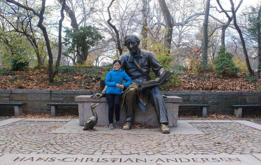 Hans Cristian Andersen in Central Park
