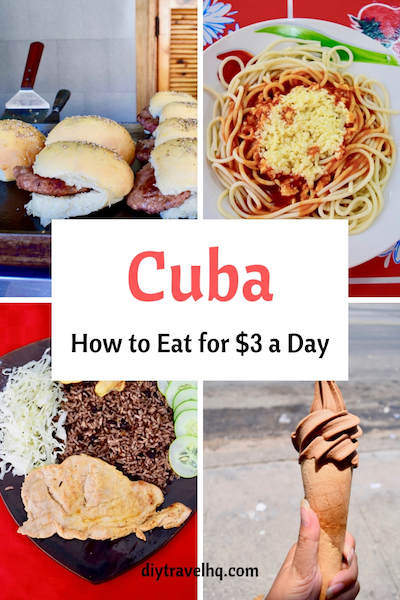 Planning to travel Cuba on a budget? Check out our guide to local street food in Havana and see all the cheap Cuban food you can eat #cuba #havana #cubafood