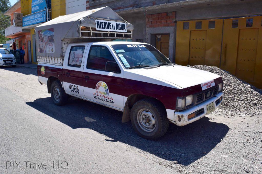 Hierve el Agua Camioneta