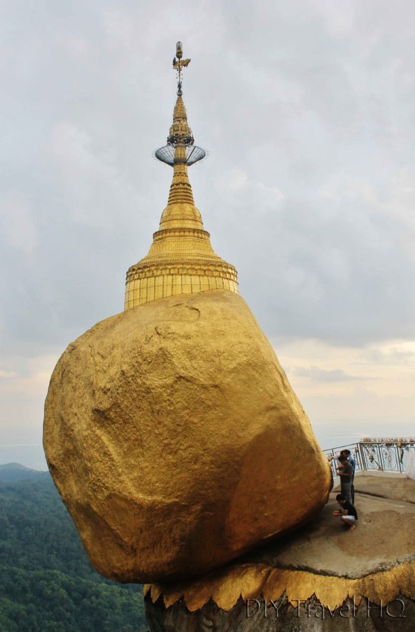 Golden Rock on Mount Kyaiktiyo