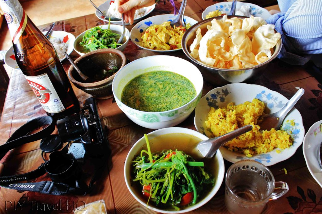 Home cook food in Myanmar