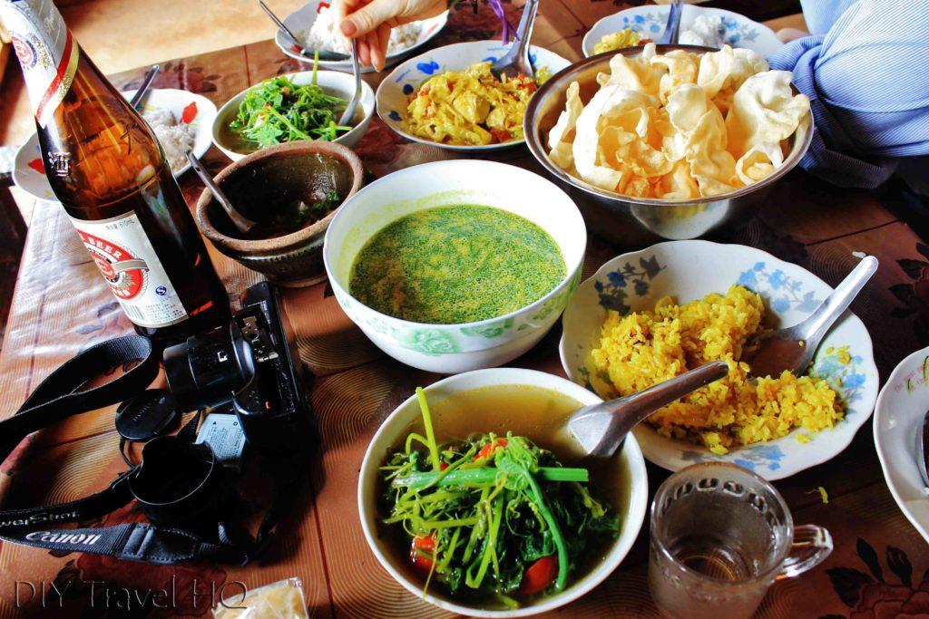 Home cook food in Myanmar