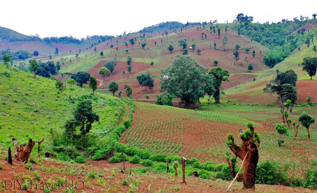 Landscape on Hsipaw trek