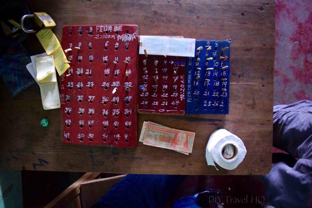 Huehuetenango Chicken Bus to Todos Santos Cuchumatan Peg Board