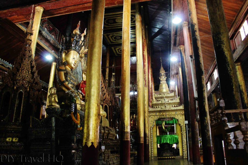 Inle Lake tour Nga Phe Kyaung monastery