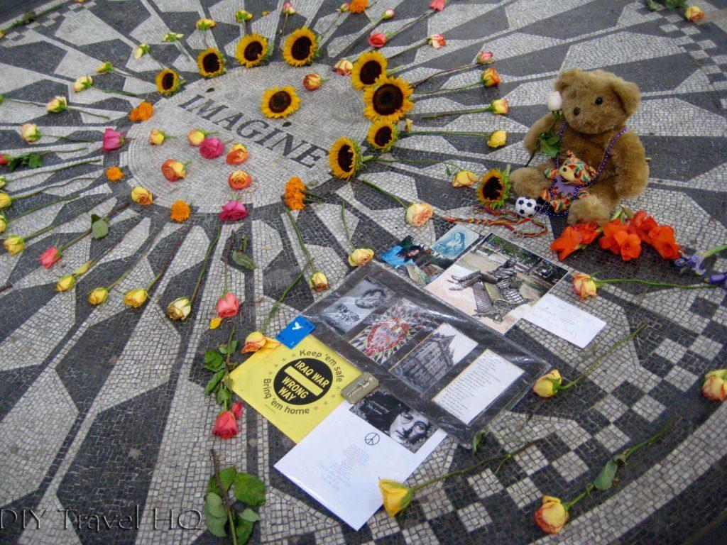 Imagine mosaic at Central Park