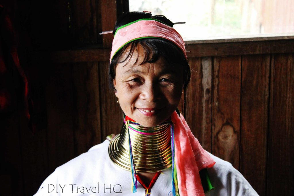 Smiling Karen Long-neck woman