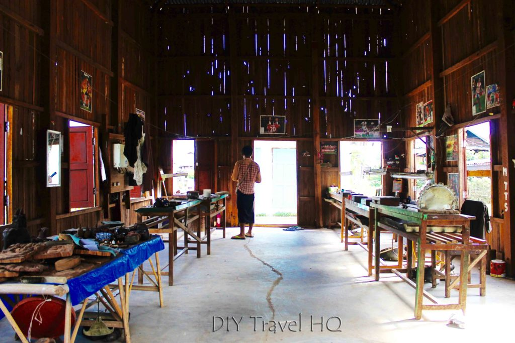 Silversmith workshop on Inle Lake