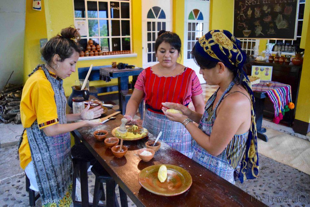 Making Rellinitos at Ixiim