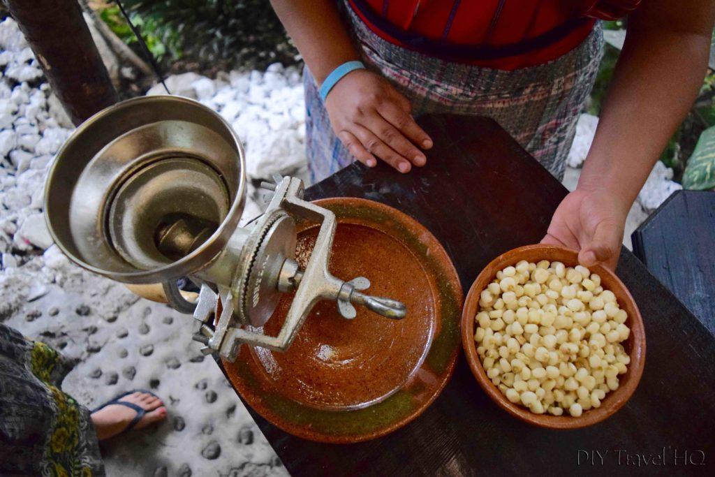 Corn grinder at Ixiim