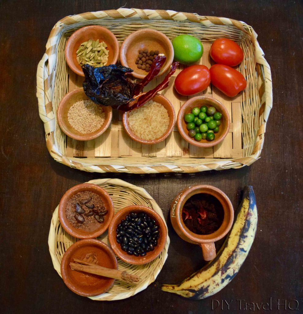 Ingredients for Ixiim cooking class
