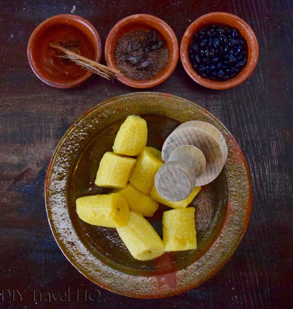 Rellenitos de Platano ingredients