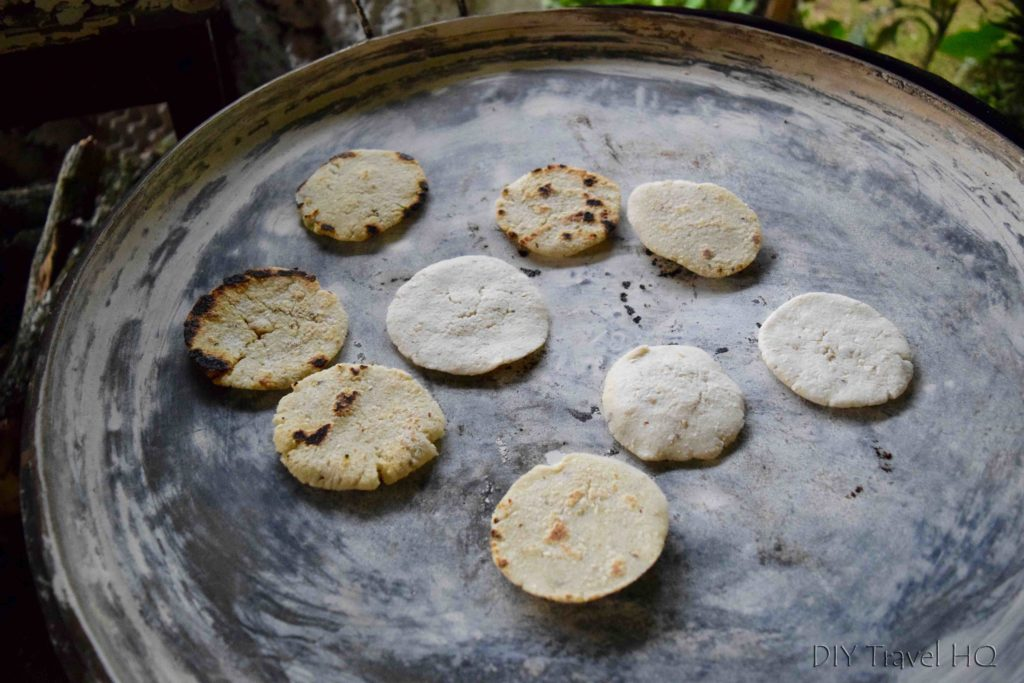 Smoky tortillas on stove