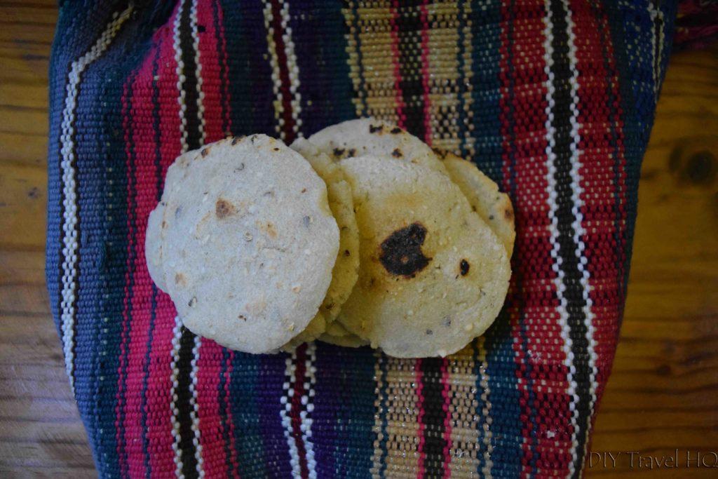 Handmade corn tortillas