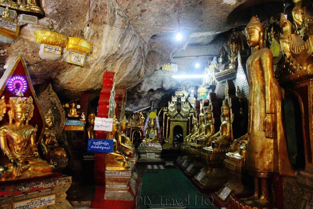 Inside Shwe Oo Min Paya Cave