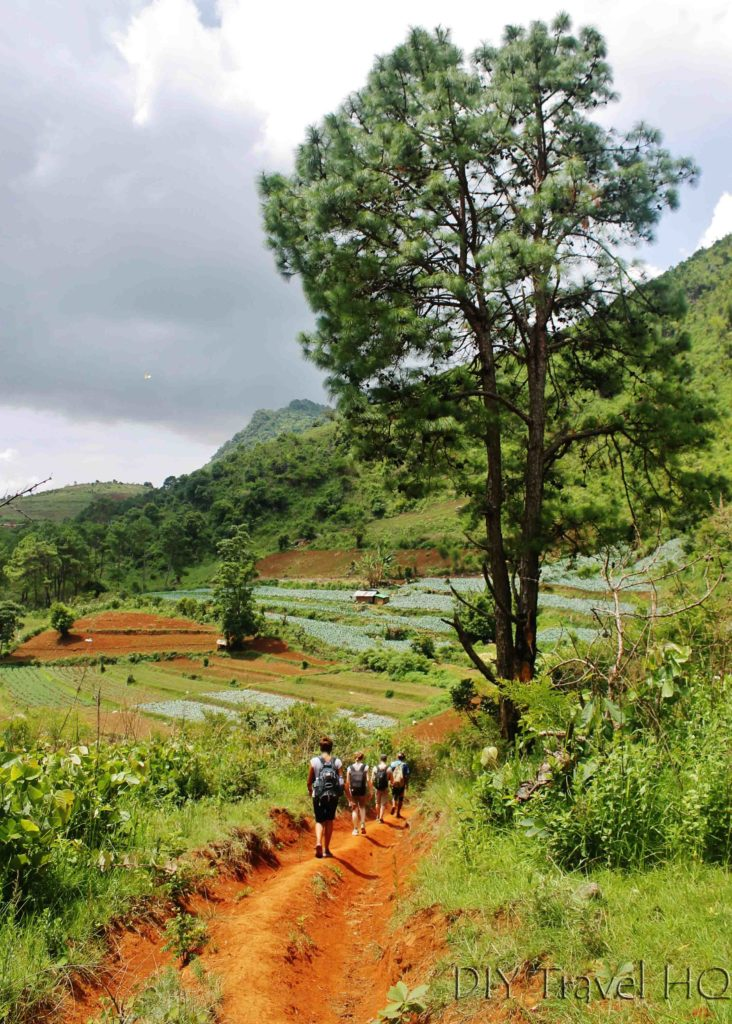 Trekking path from Kalaw to Inle Lake