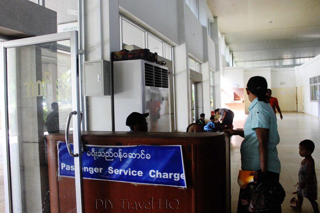 Departure tax at Kawthaung Airport